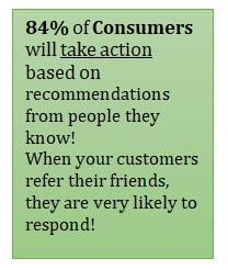 84% will take action based on personal recommendations