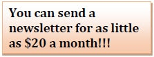 send a newsletter for as little as $20 a month